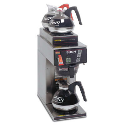 12 Cup, Dual-Voltage Digital Coffee Brewer with 3 Warmers