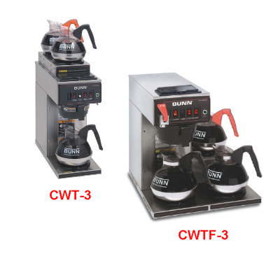 12 Cup Automatic Coffee Brewers With 3 Warmers