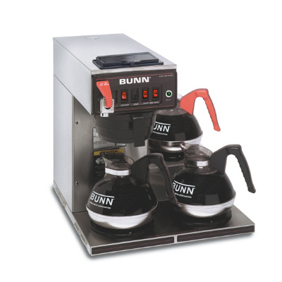 12 Cup Automatic Coffee Brewer with 3 Warmers-3 Lower