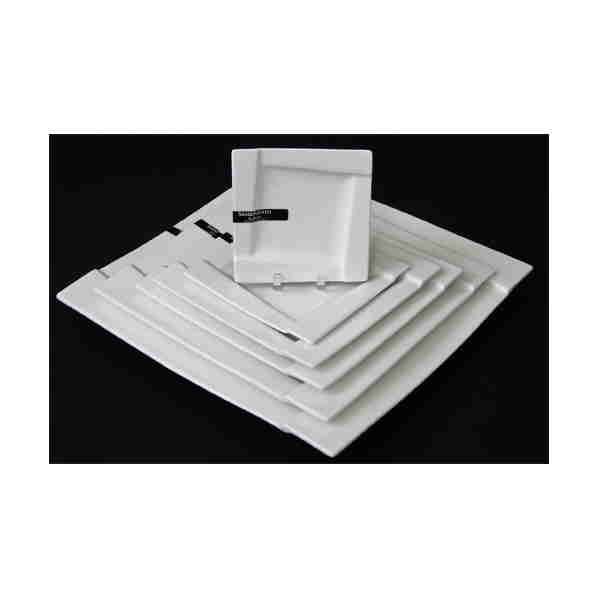 Porcelain Square White Plates