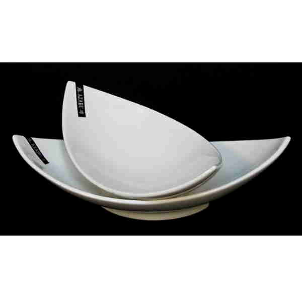 Boat Shape White Porcelain Bowl