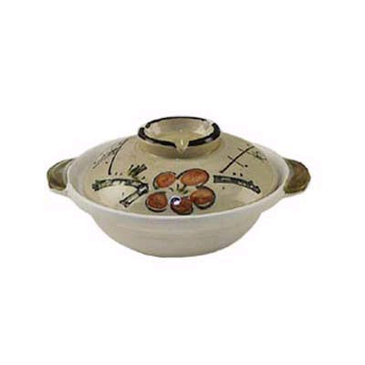 "7 1/4"" Japanese Earthen Casserole Pot"