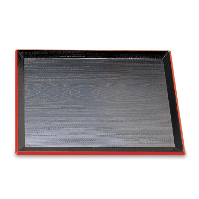 Black Tray with Rim