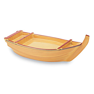 "Lacquer 17 3/4""Sushi Boat-YELLOW"
