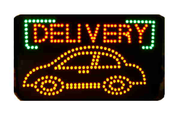 "Custom Window Indoor LED SIGN "" DELIVERY"""