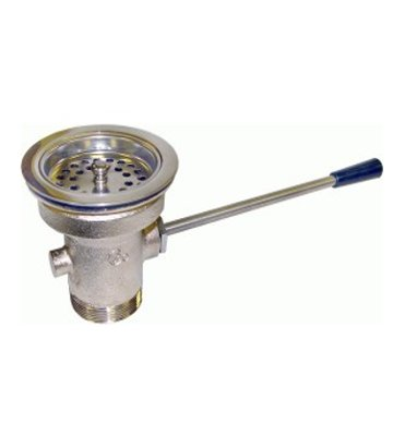 Handle wastes valve with strainer
