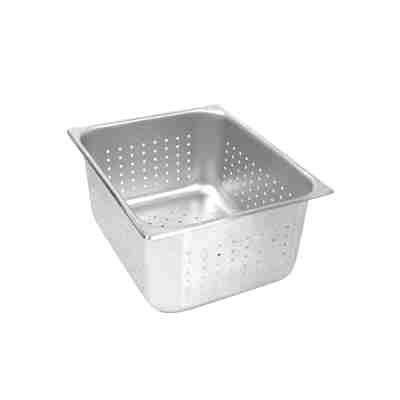 Perforated Stainless Steel Steam Pans-Half size