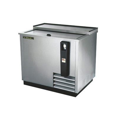 "36""(W) Stainless Steel Horizontal Bottle Cooler-TRUE"