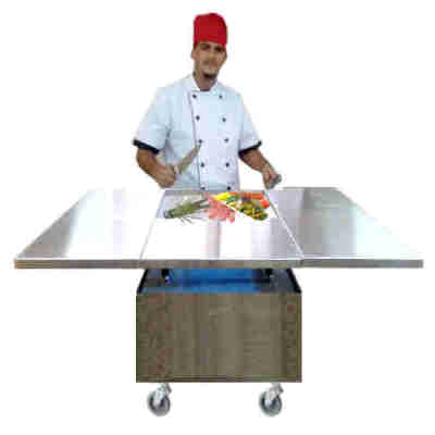 Mobile/Catering/Banquet Japanese Teppanyaki Griddle