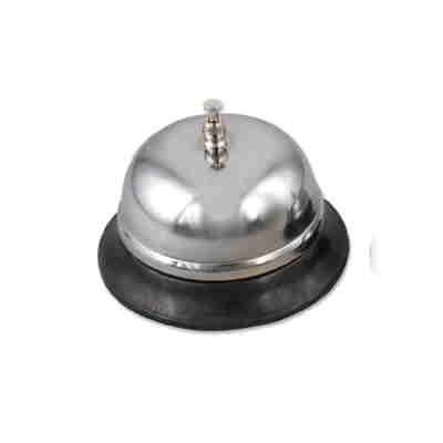 Nickel Plated Bell with Plastic Base