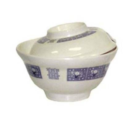 6 inch Soup/Rice Bowl w/Cover, Melamine, Japanese