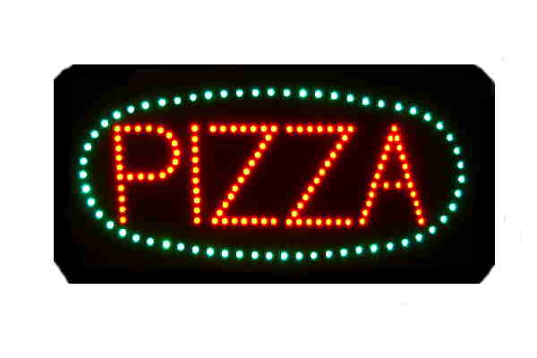 Small Custom Made LED Sign-PIZZA