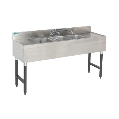 Bar Sink - 5'- 3 Compartments