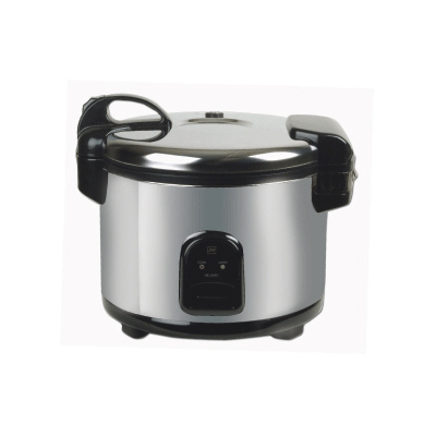 Stainless steel exterior rice cooker/warmer
