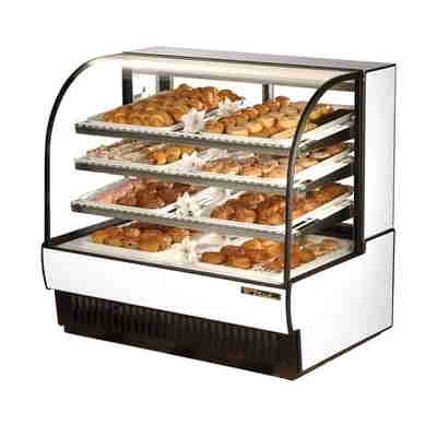 True TCGD-50 Curved Glass Black Dry Bakery Case