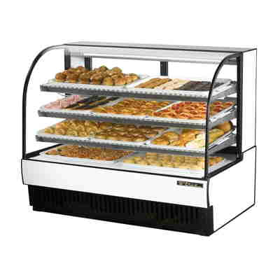 True TCGD-59 Curved Glass Black Dry Bakery Case
