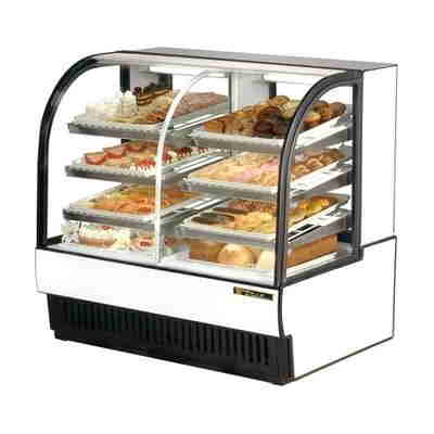 True TCGDZ-50 Curved Glass Dual Zone Dry/Refrigerated Bakery Cas