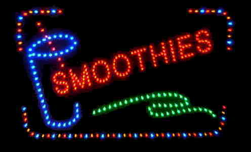 Custom Made Restaurant LED Sign-SMOOTHIES